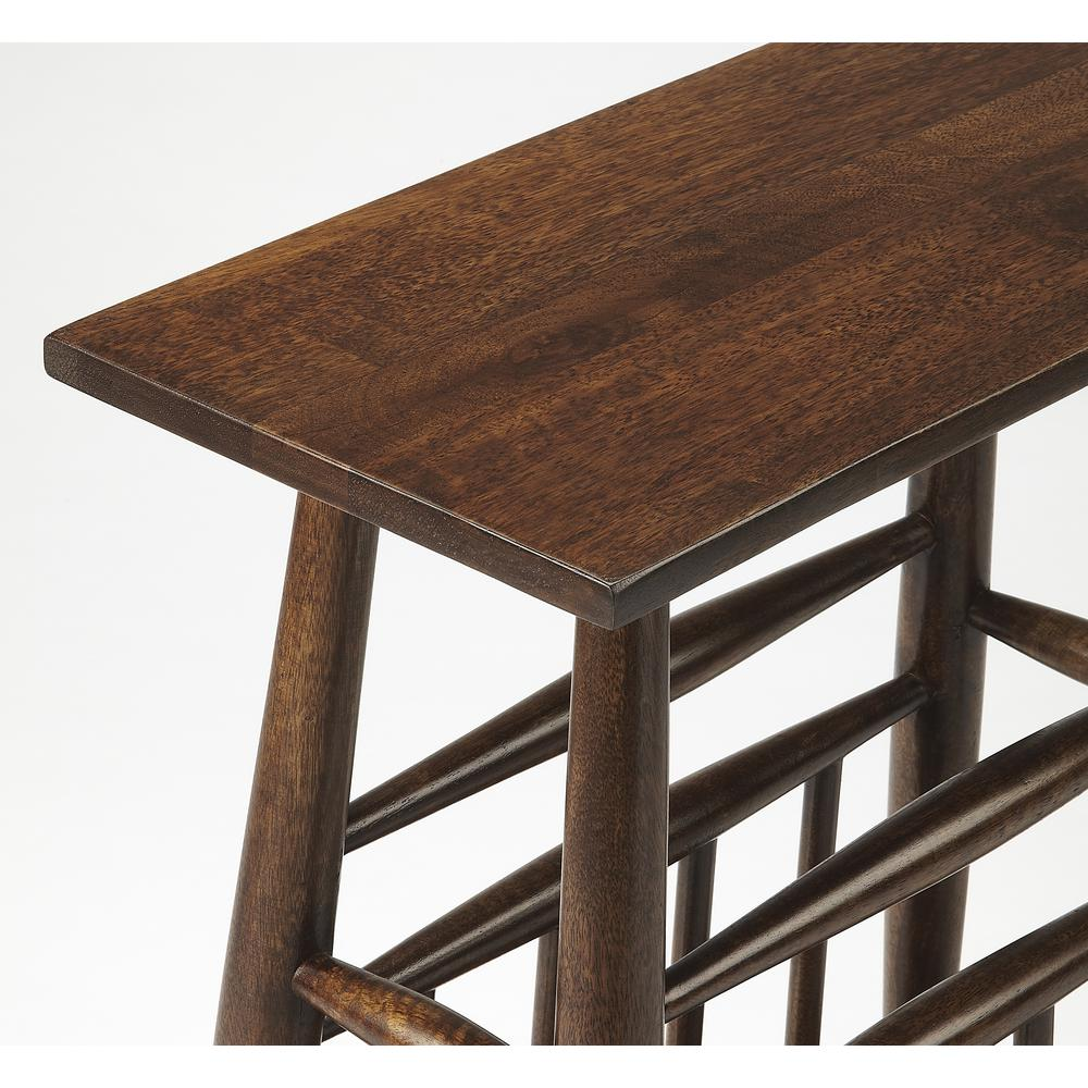 Butler Bowen Solid Wood Magazine Table. Picture 2