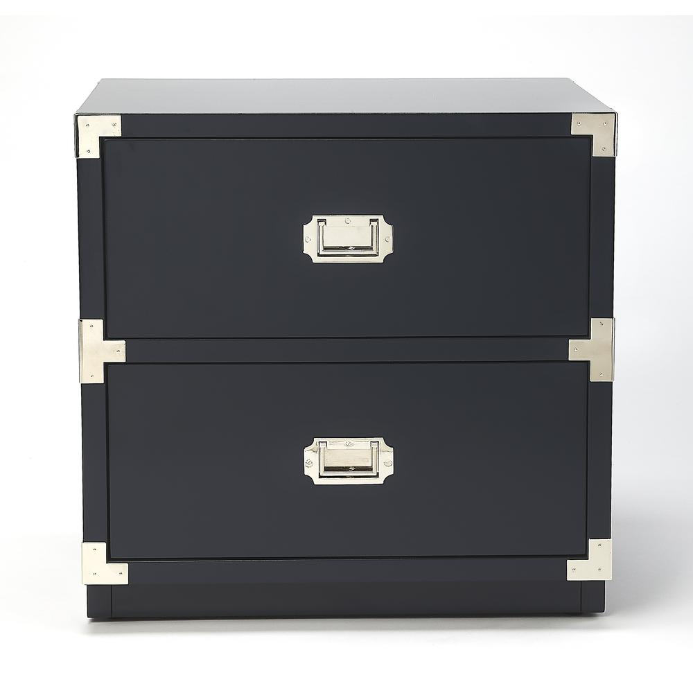 Anew Blue 2 Drawer Campaign Chest. Picture 3
