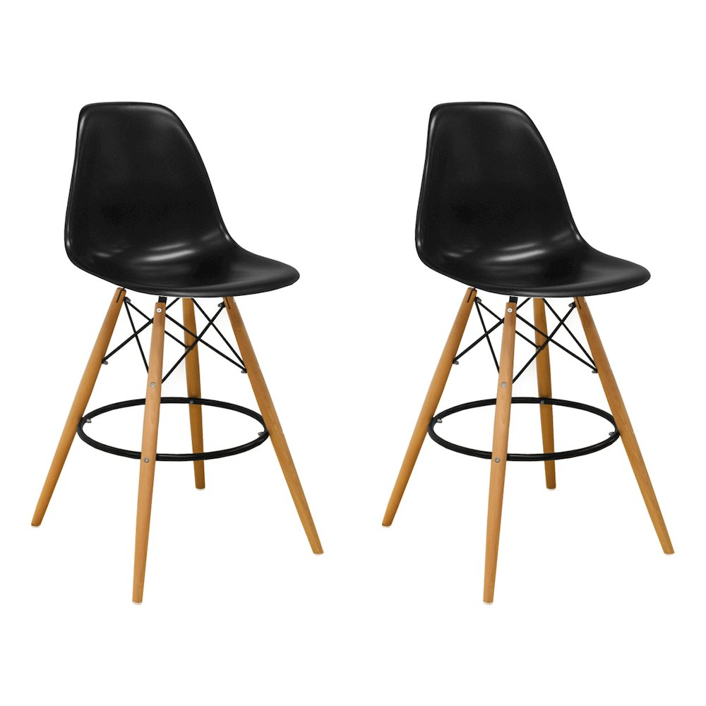 Paris Tower Barstool 2 Pack Black