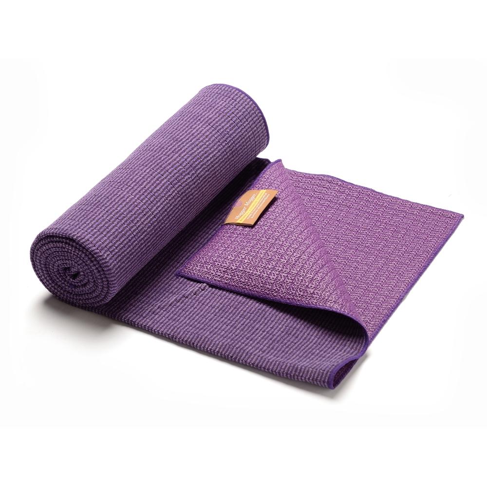 Swol Fitness Bamboo Towel: Bamboo Yoga Towel- Violet