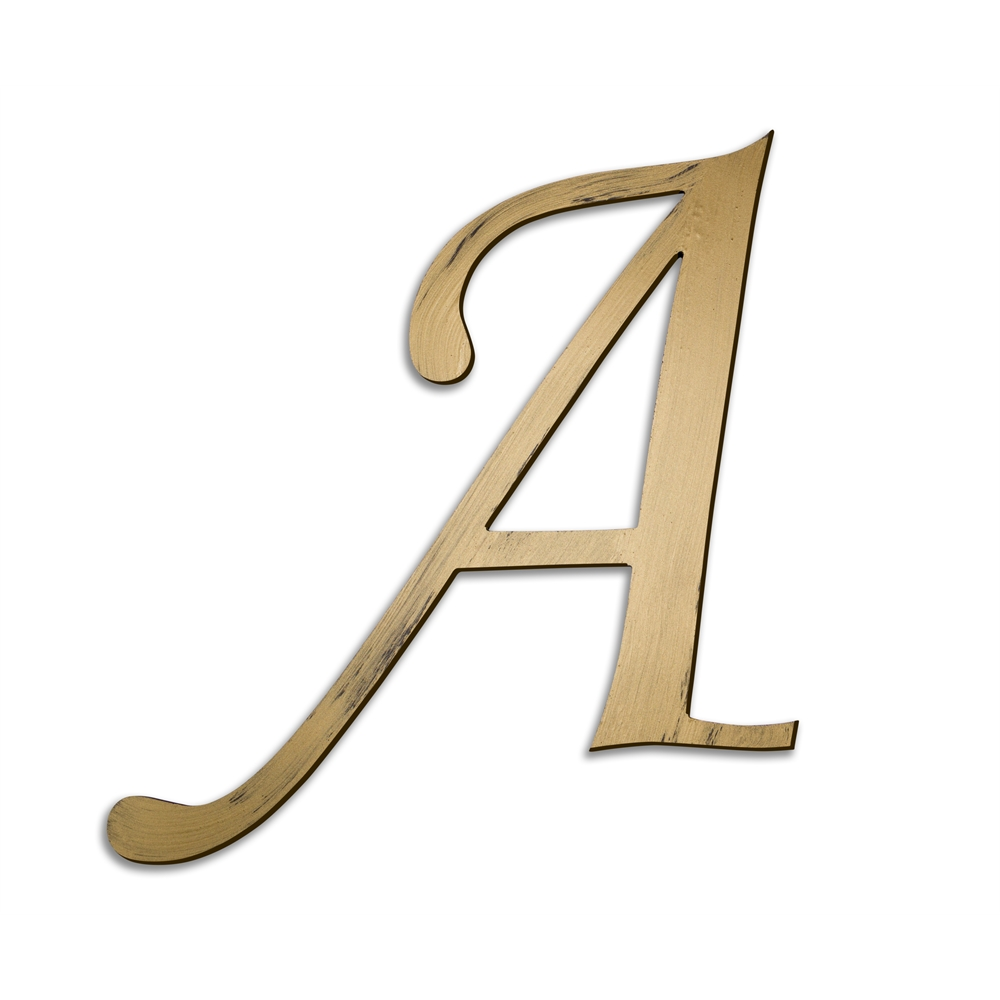 Individual script letters wall decor letter a for Furniture 5 letters word whizzle