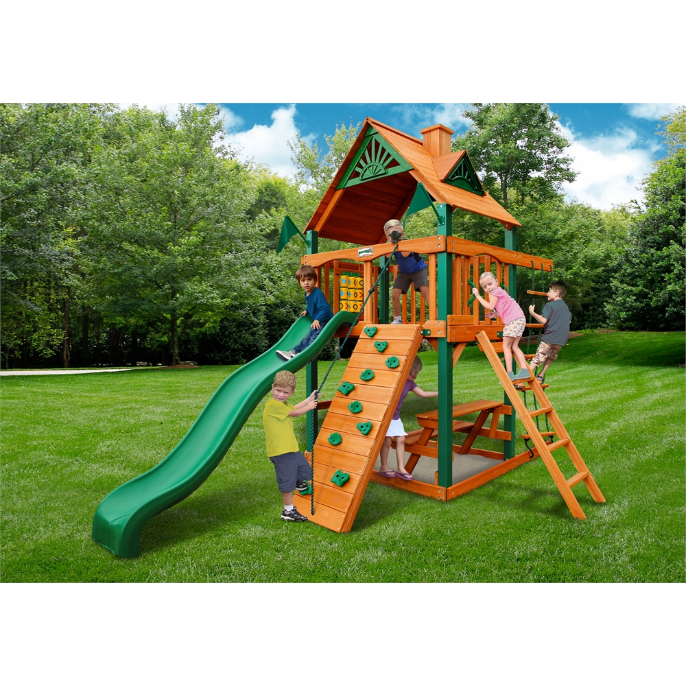Chateau Tower Swing Set W Timber Shield