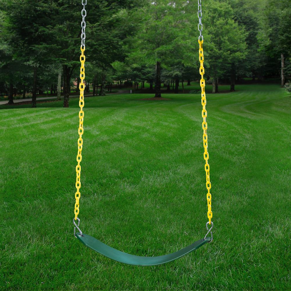 Empire Wooden Swing Set with 2 Solar Wall Lights, Monkey Bars, and 3 Slides