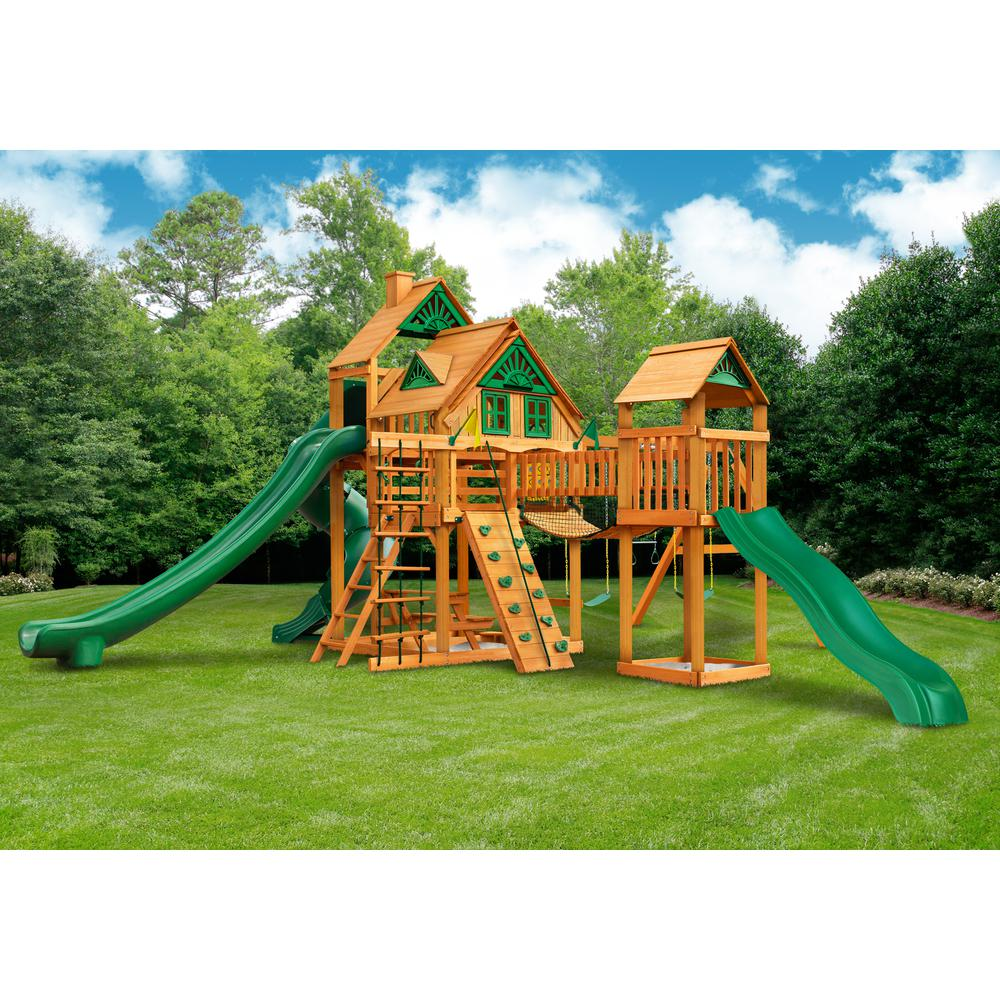 Treasure Trove Ii Treehouse Swing Set W Amber Posts