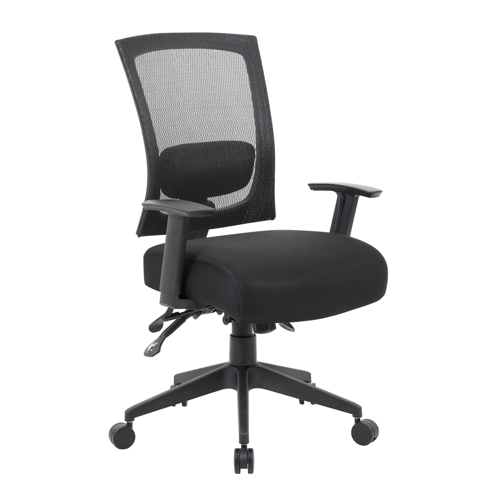 Boss Contract Mesh Back Task Chair w/ Seat Slider. Picture 1