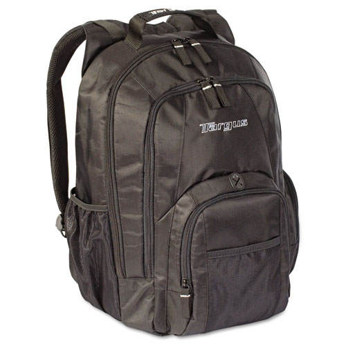 """15.4"""" Groove Laptop Backpack, Nylon, 13 x 7-3/4 x 18, Black. Picture 1"""