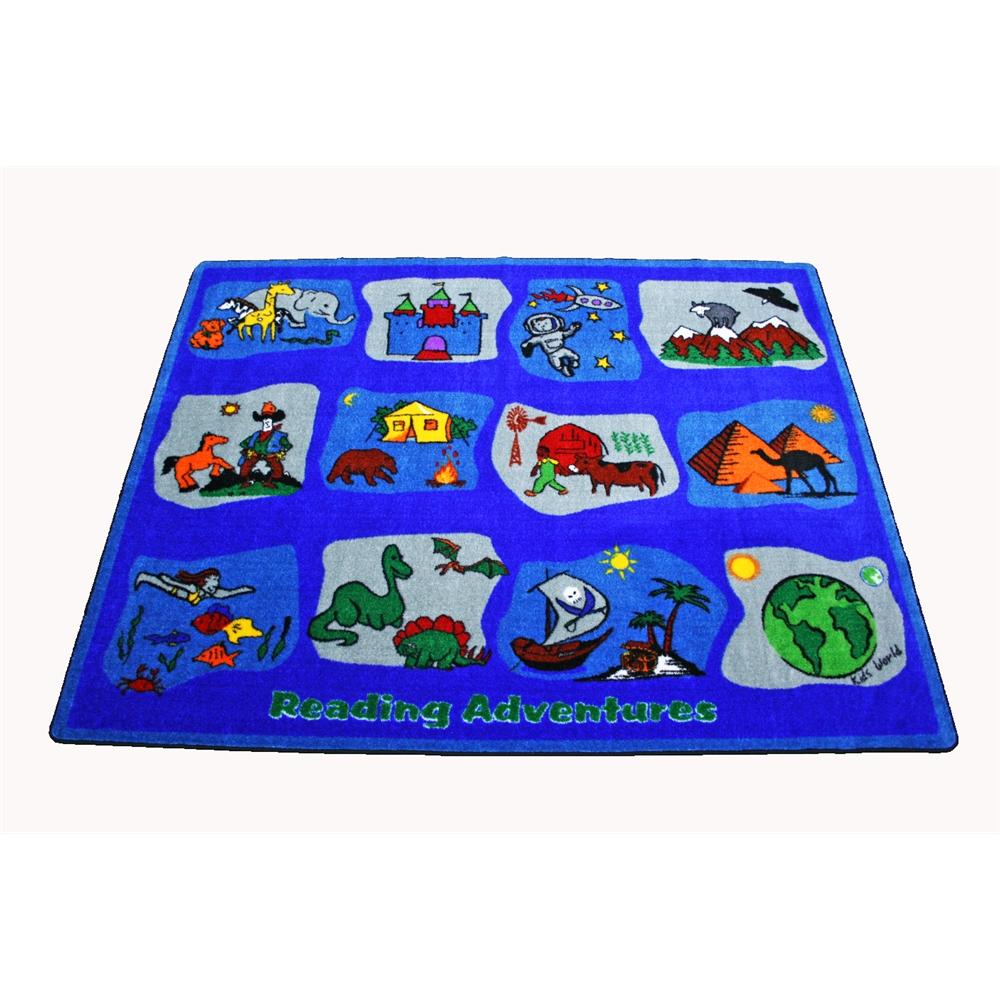 Kids World Carpets Reading Adventures Area Rug 6 6 Quot X 8 4 Quot