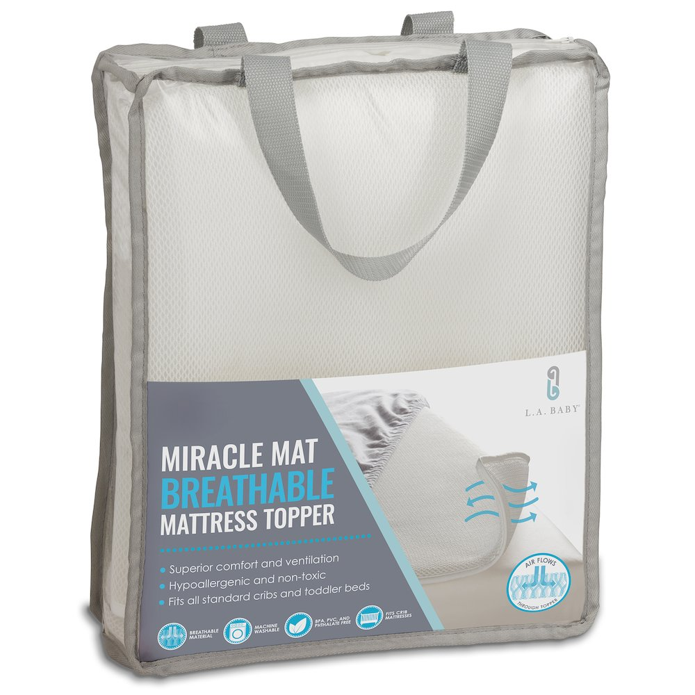 LA Baby Breathable Miracle Mat - Superior Ventilation Crib MattressTopper. Picture 1