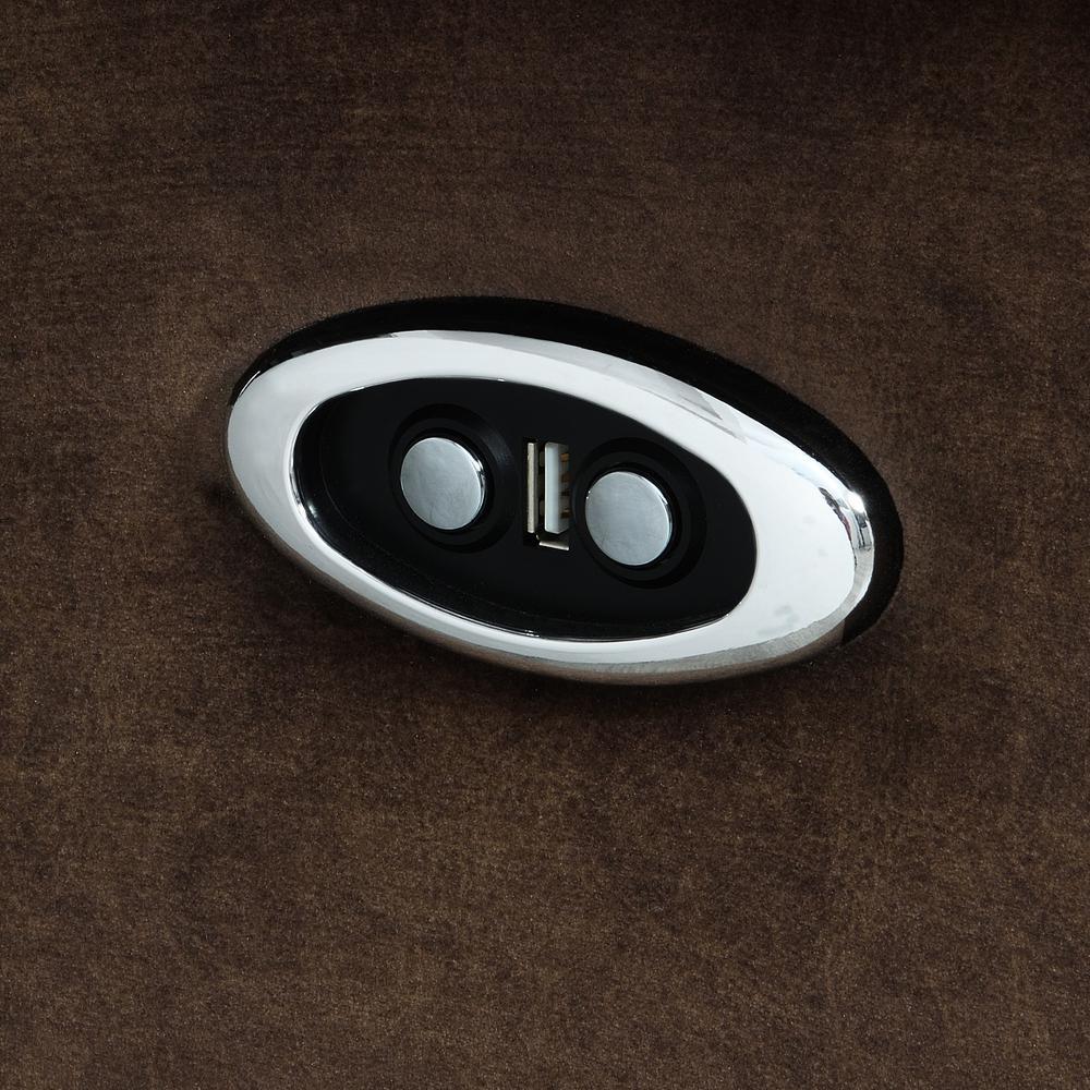 U2195-Domino Coffee-Prs, Power Reclining Sofa Domino Coffee. Picture 5