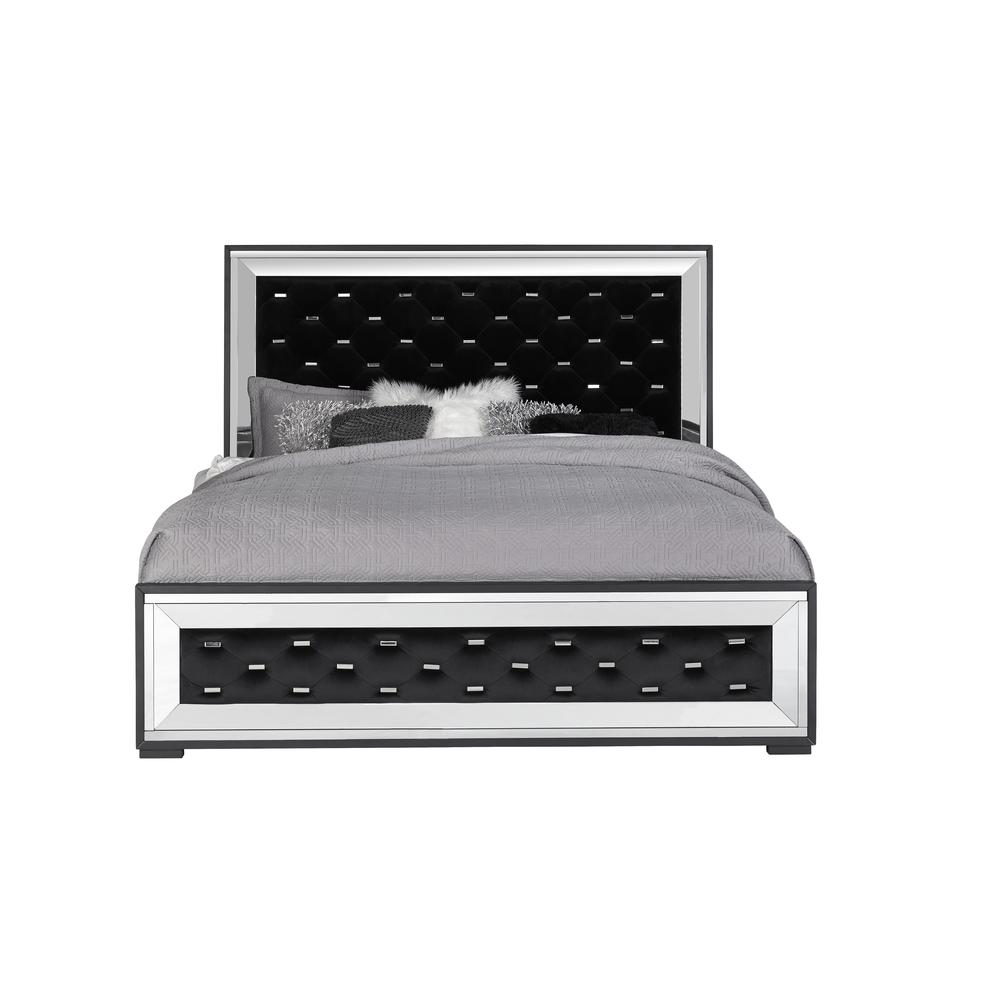 Catania-Kb, King Bed Black. Picture 1