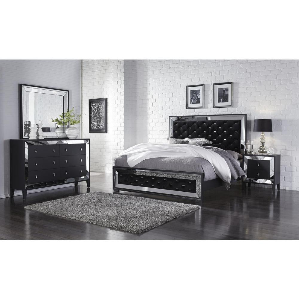 Catania-Qb, Queen Bed Black. Picture 3