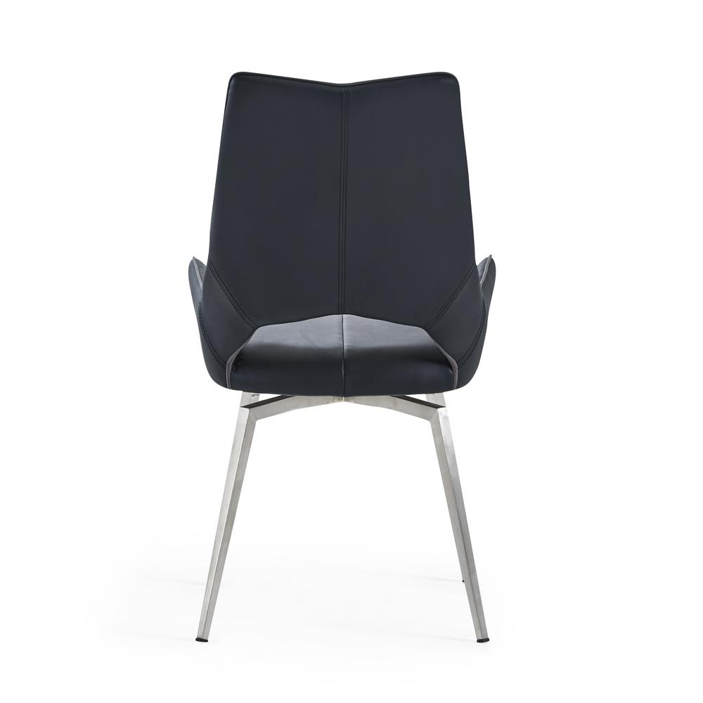 Bucket Seat Swivel Style Black Dining Chair 22x25x37 Inch Black. Picture 2