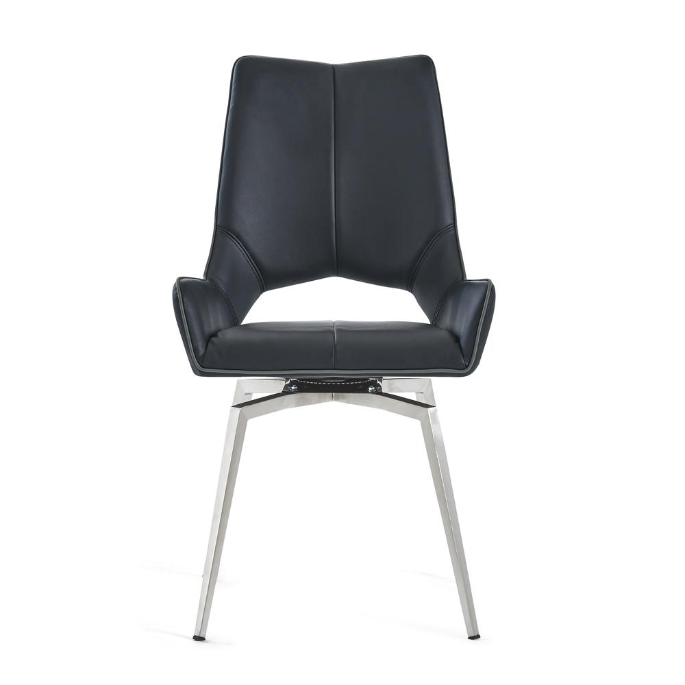 Bucket Seat Swivel Style Black Dining Chair 22x25x37 Inch Black. Picture 3
