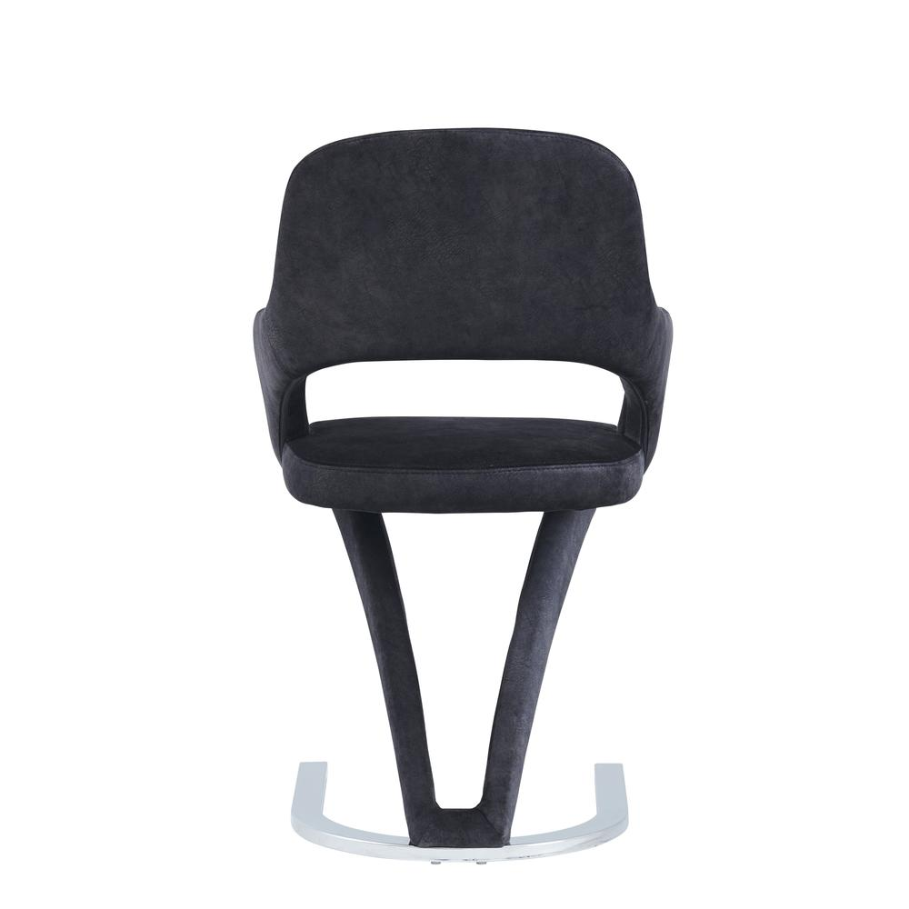 D7012Dc, Set Of 2 Dining Chairs  Black. Picture 4