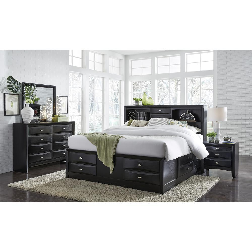 Linda(Fd0011B)-Bl-Ns (M), Nightstand. Picture 3