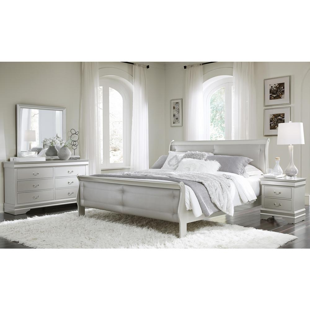 Marley-S-Fb, Full Bed Silver. Picture 3