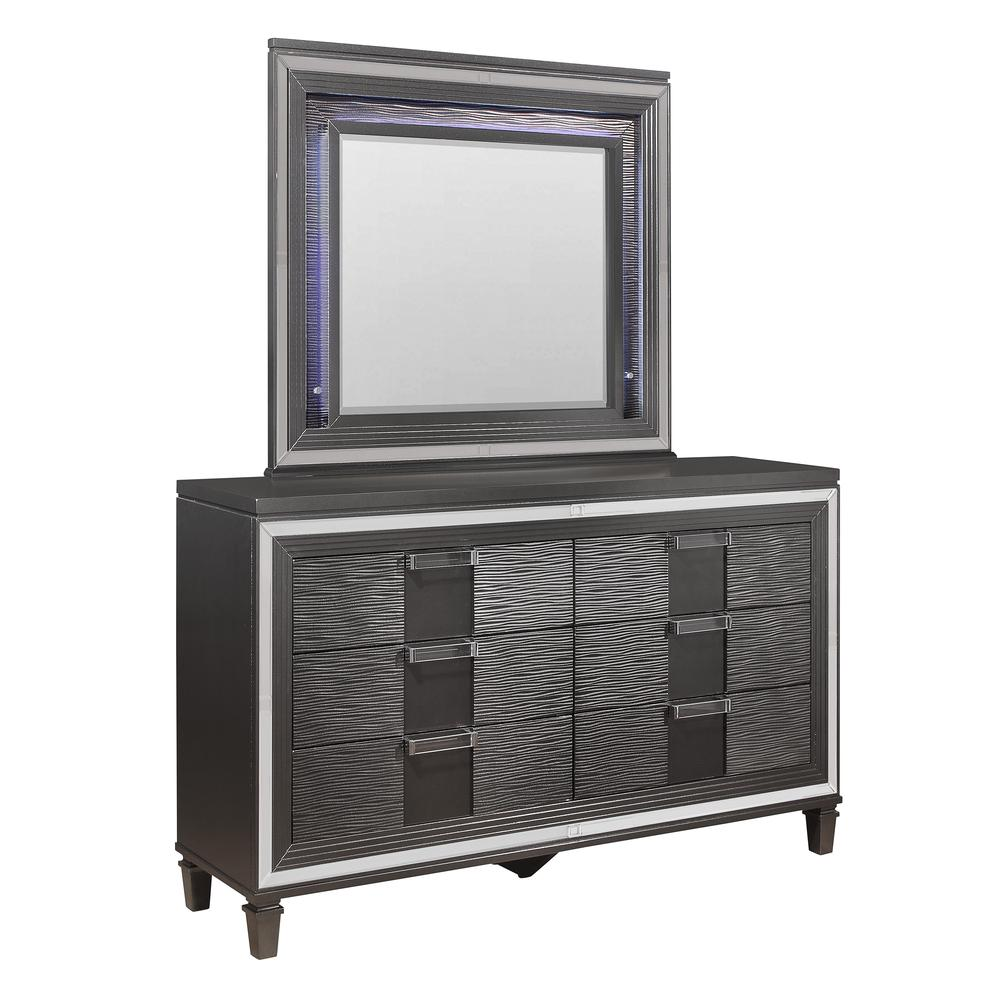 Pisa-Metallic Grey-Dr, Metallic Grey Dresser. Picture 2