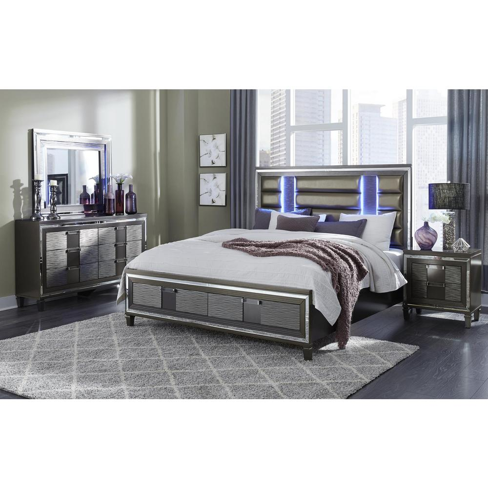 Pisa-Metallic Grey-Dr, Metallic Grey Dresser. Picture 3