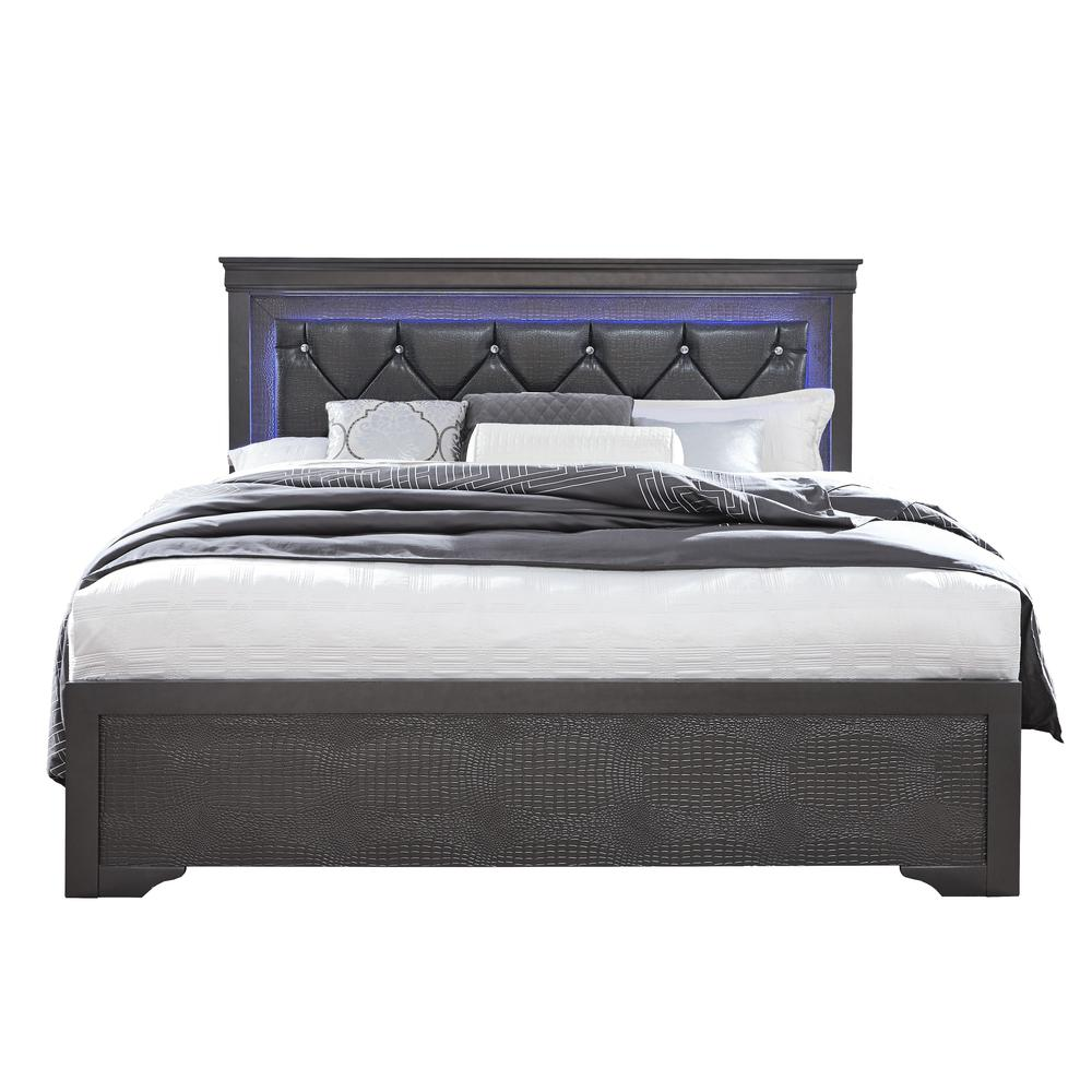 Pompei-Gr-Qb, Queen Bed. Picture 1
