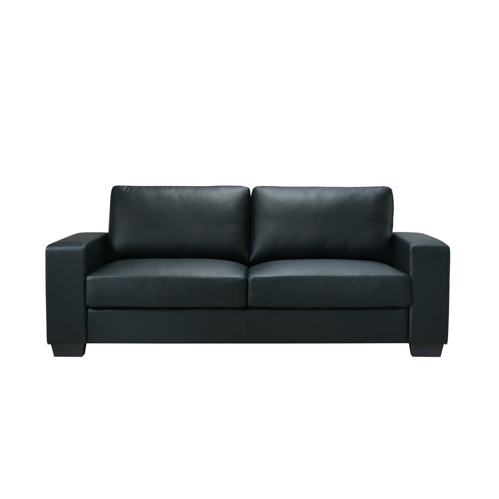 U801-Black Pvc-S, Sofa Black Pvc. Picture 1