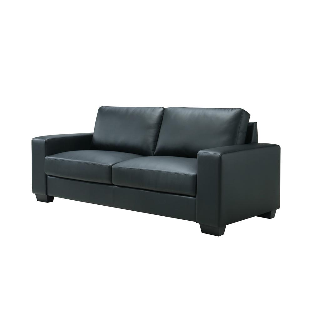 U801-Black Pvc-S, Sofa Black Pvc. Picture 2