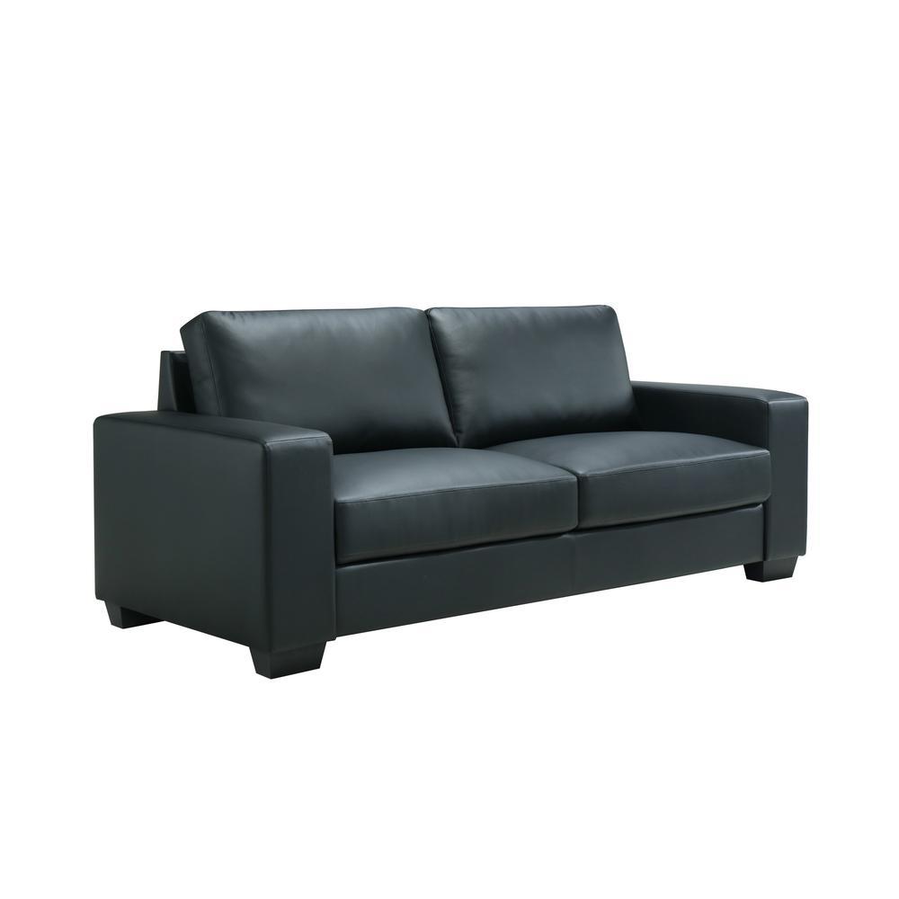 U801-Black Pvc-S, Sofa Black Pvc. Picture 3