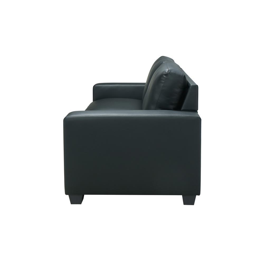 U801-Black Pvc-S, Sofa Black Pvc. Picture 4