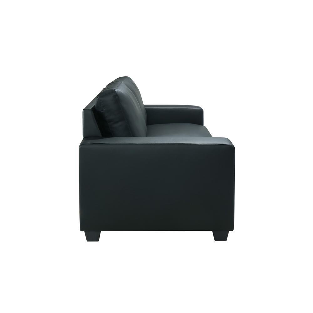 U801-Black Pvc-S, Sofa Black Pvc. Picture 7