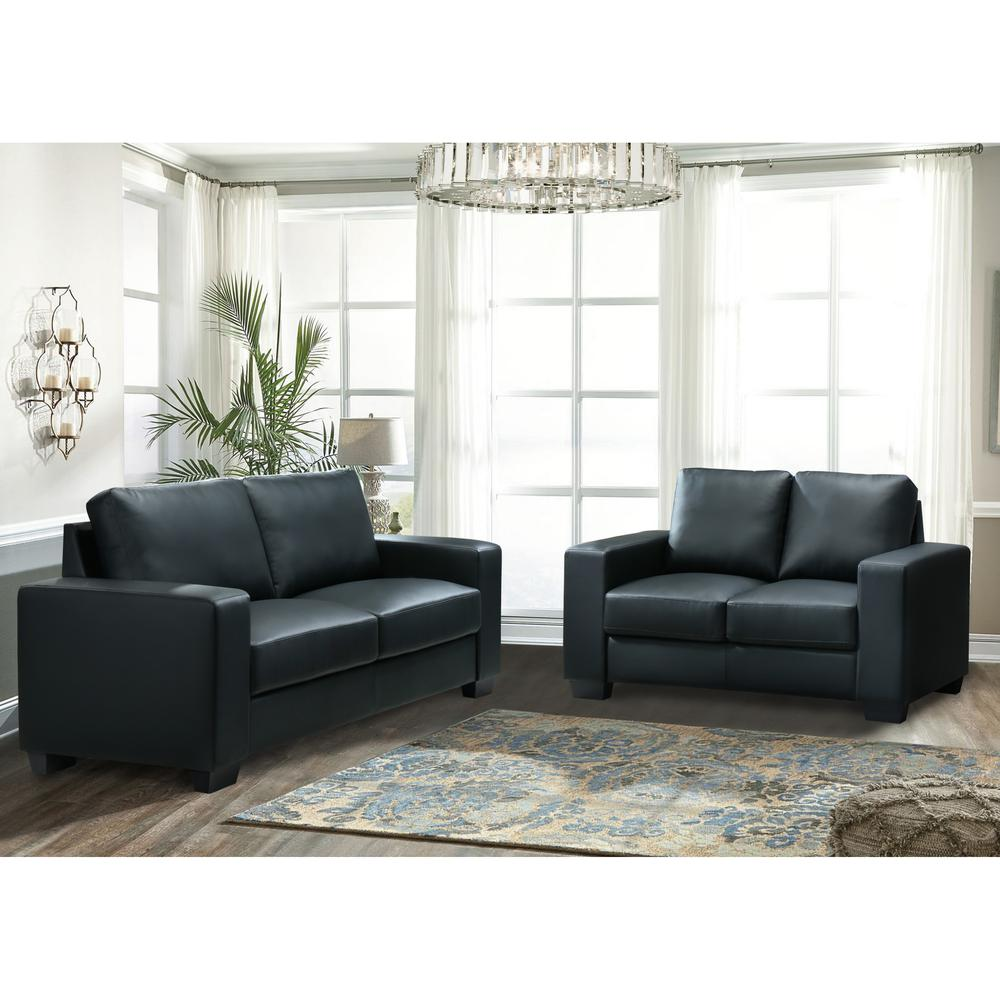 U801-Black Pvc-S, Sofa Black Pvc. Picture 10