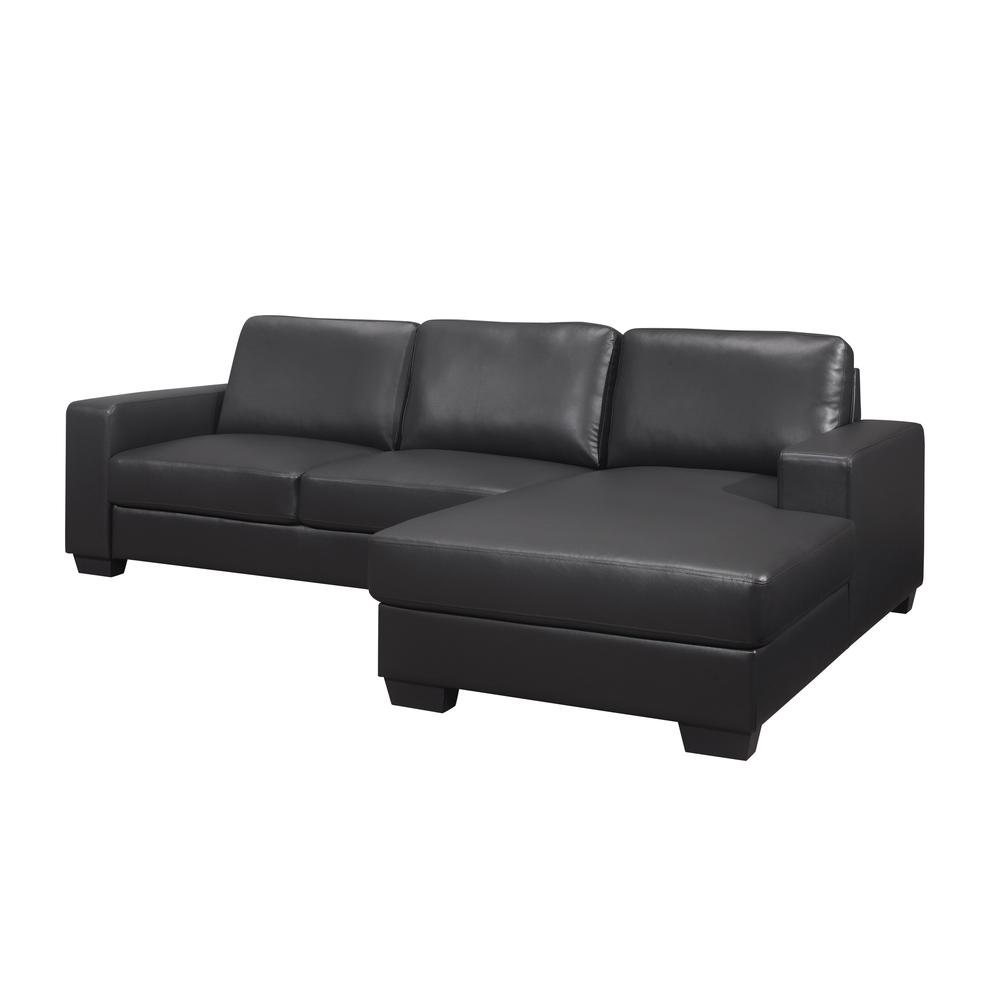 U821-Drk Gry Pvc Loveseat , Dark Grey Loveseat & Chaise. Picture 8