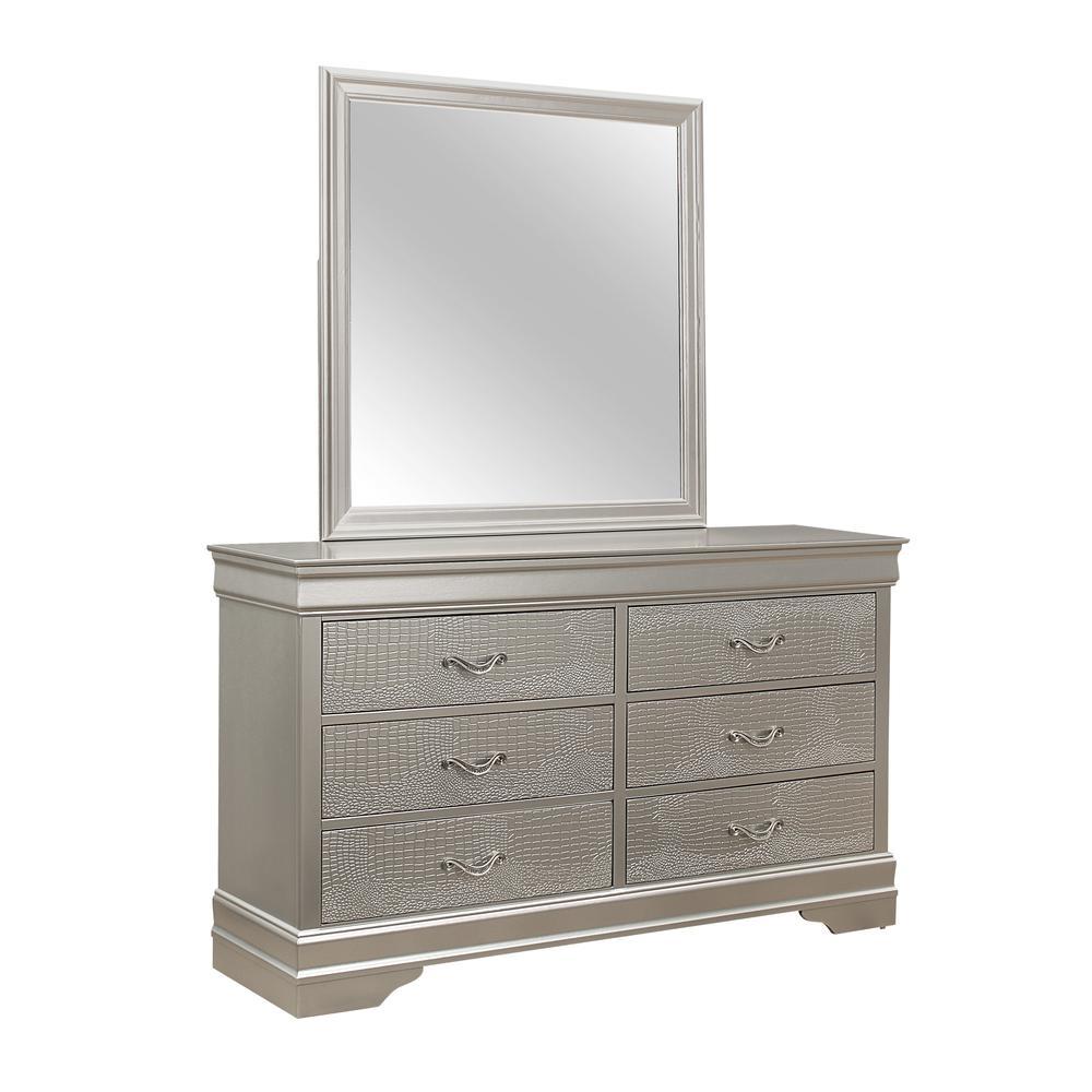 Verona-Silver-Dr, Dresser Silver. Picture 2