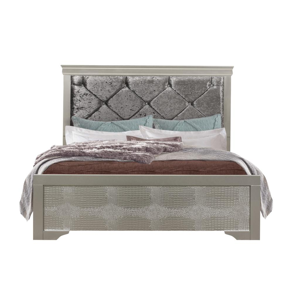 Verona-Silver-Kb, King Bed. Picture 1