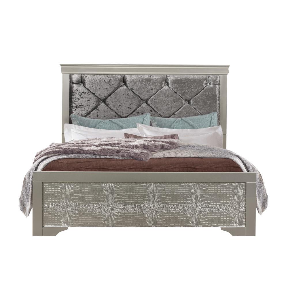 Verona-Silver-Tb, Twin Bed. Picture 1