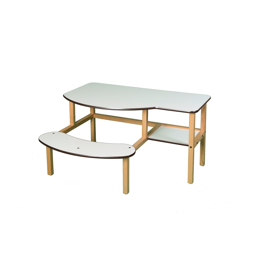Grade School Buddy Computer Desk, White/Brown. Picture 2