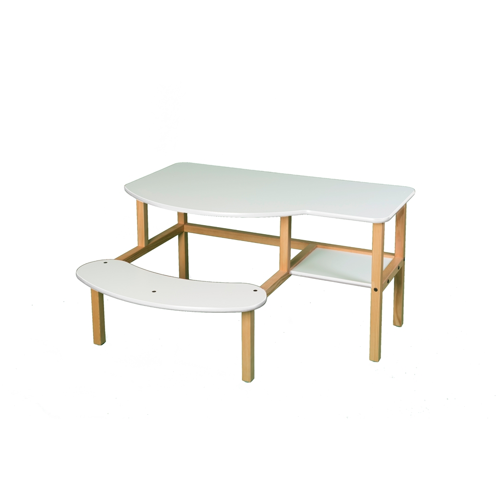 Pre-School Buddy Computer Desk, White/White. Picture 1