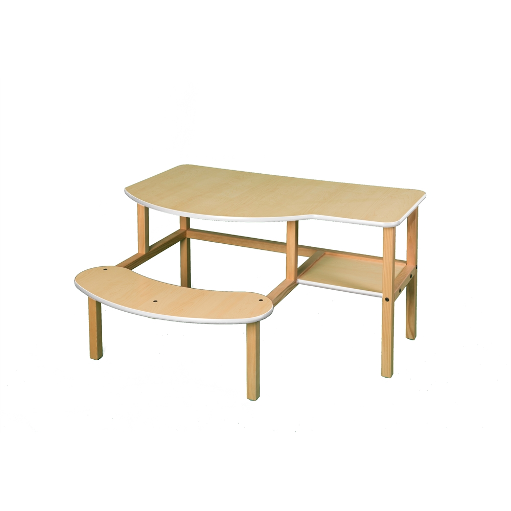 Grade School Buddy Computer Desk, Maple/White. Picture 1