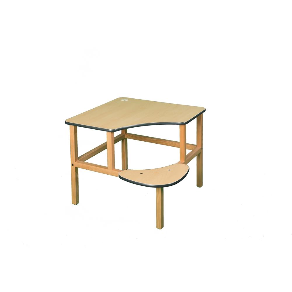 Corner Desk, Maple/Green. Picture 1
