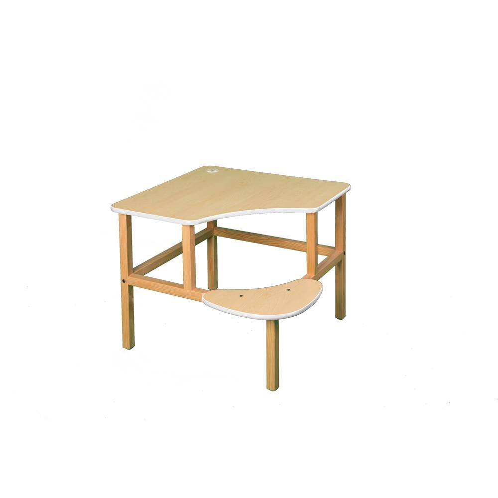 Corner Desk, Maple/White. Picture 1