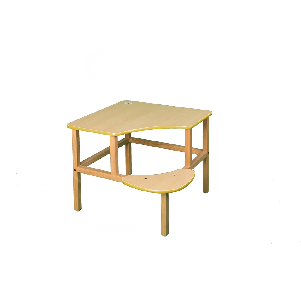 Corner Desk, Maple/Yellow. Picture 1