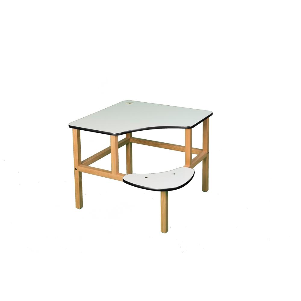 Corner Desk, White/Black. Picture 1