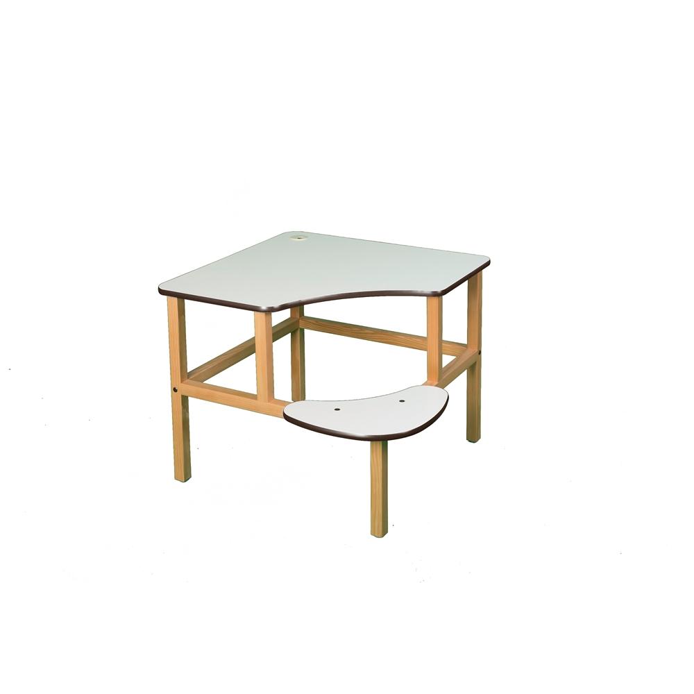 Corner Desk, White/Brown. Picture 1