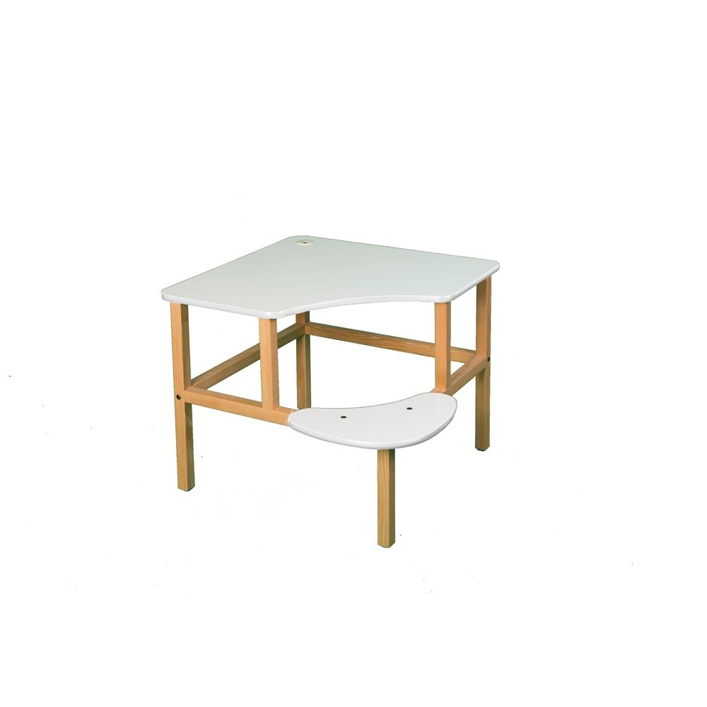 Corner Desk, White/White. Picture 1