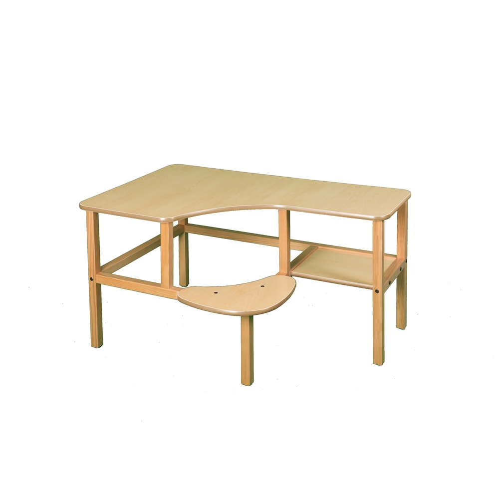 Grade School Computer Desk, Maple/Tan. Picture 1
