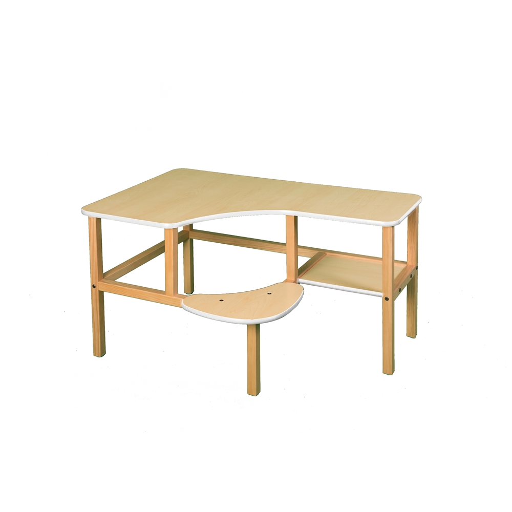 Grade School Computer Desk, Maple/White. Picture 1