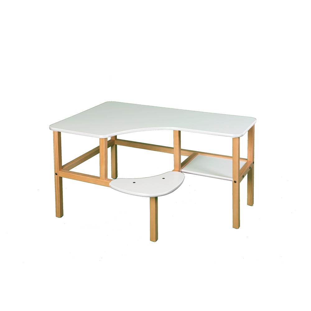 Grade School Computer Desk, White/White. Picture 1