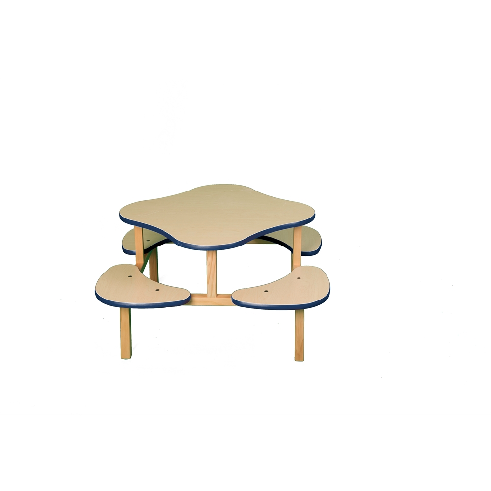 Play Table, Maple/Blue. Picture 1