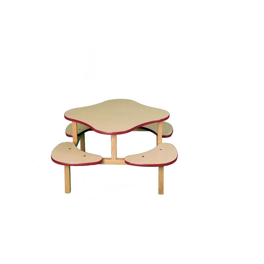 Play Table, Maple/Red. Picture 1