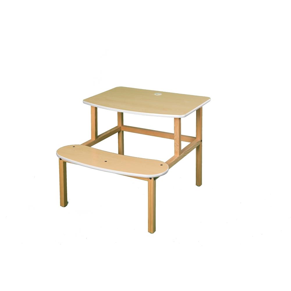 Student Desk, Maple/White. Picture 1
