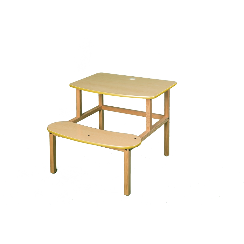 Student Desk, Maple/Yellow. Picture 1