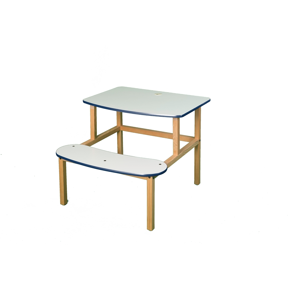 Student Desk, White/Blue. Picture 1